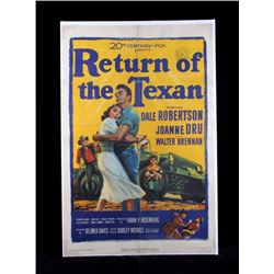 Original Return of the Texan Movie Poster 1952