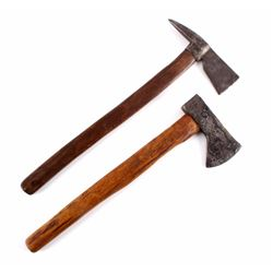 Early Western Frontier Forged Iron Hatchets
