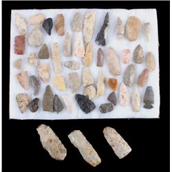 Central Plains Indian Arrowhead Artifacts