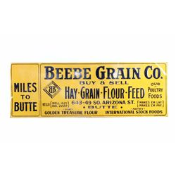 Original Beebe Grain Co. Sign Butte Montana