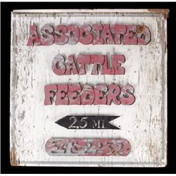Rustic Associated Cattle Feeders Wood & Steel Sign