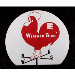 Weather Bird Shoes Porcelain Advertising Sign