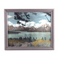 Original K.F. Roahen Tinted Grand Teton Photograph