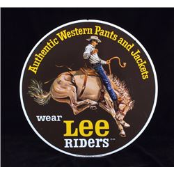 Original Lee Riders Double Sided Advertising Sign