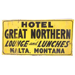 Hotel Great Northern Malta, MT Advertising Sign