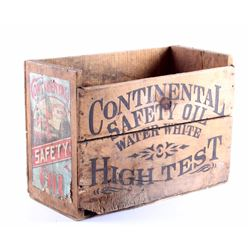 Continental Safety Oil Wooden Case Butte Montana