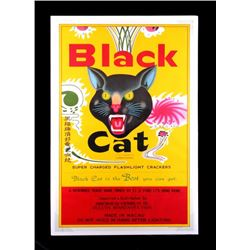 Original Black Cat Firecracker Advertising Poster