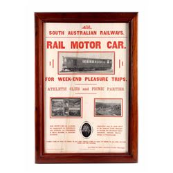 South Australia Railways Framed Advertising Poster