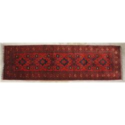 Persian Hand-Knotted Hamadan Style Runner Rug