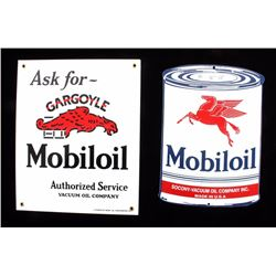 Mobiloil Porcelain Advertising Signs