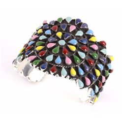 Polychrome Petite Point Cuff Bracelet