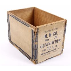 Missoula Mercantile Co. Gunpowder Tea Crate