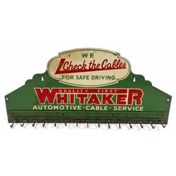 Whitaker Automotive Embossed Advertising Sign