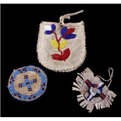Sioux Native American Beaded Tobacco Pouches