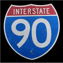 Original Interstate 90 Highway Shield Sign