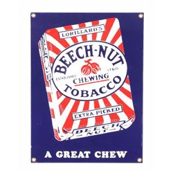 Beech-Nut Tobacco Porcelain Advertising Sign
