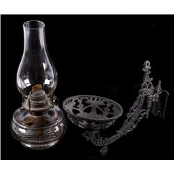 WBG Corp. Eldorado Glass Wall Hanging Oil Lamp