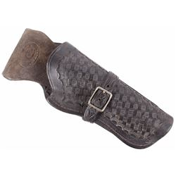 Colt Factory Basket Weave Pattern Leather Holster