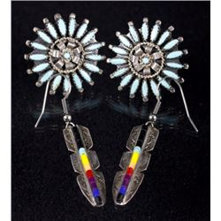 Native American Sterling Silver Earrings