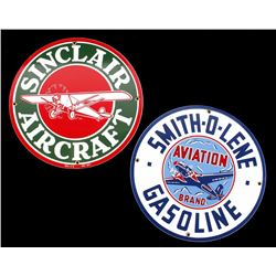 Porcelain Enamel Aviation Gas Advertising Signs