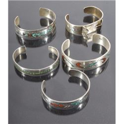 Navajo Silver & Turquoise Watch Cuff & Bracelets