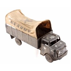 Marx Lumar U.S. Army Pressed Steel Toy Truck