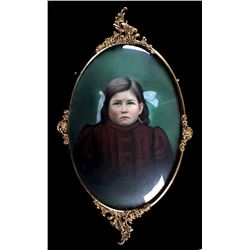 Framed Portrait of a Navajo Chief's Daughter