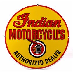 """Indian Motorcycles """"Dealer"""" Advertising Sign"""