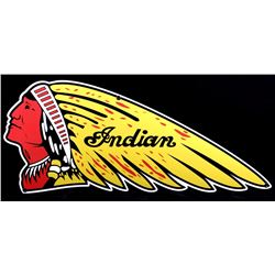 Indian Motorcycles Chiefs Head Advertising Sign