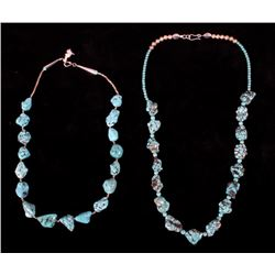Navajo Turquoise Nugget & Silver Necklaces