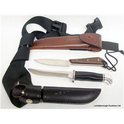 KNIVES IN SHEATHS