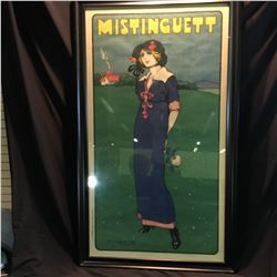 """MISTINGUETT"", LARGE FRAMED VINTAGE FRENCH POSTER BY LACAZA, C. 1910, 82'' X 47 1/2'' INC. FRAME"
