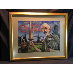 SHELDON C. SCHONEBERG, FRAMED ORIGINAL PASTEL, DON QUIXOTE PAINTING, SIGNED BY ARTIST ON MIDDLE