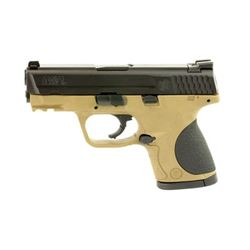 "S& W M& P 9MM 3.5"" BLK/FDE 12RD"
