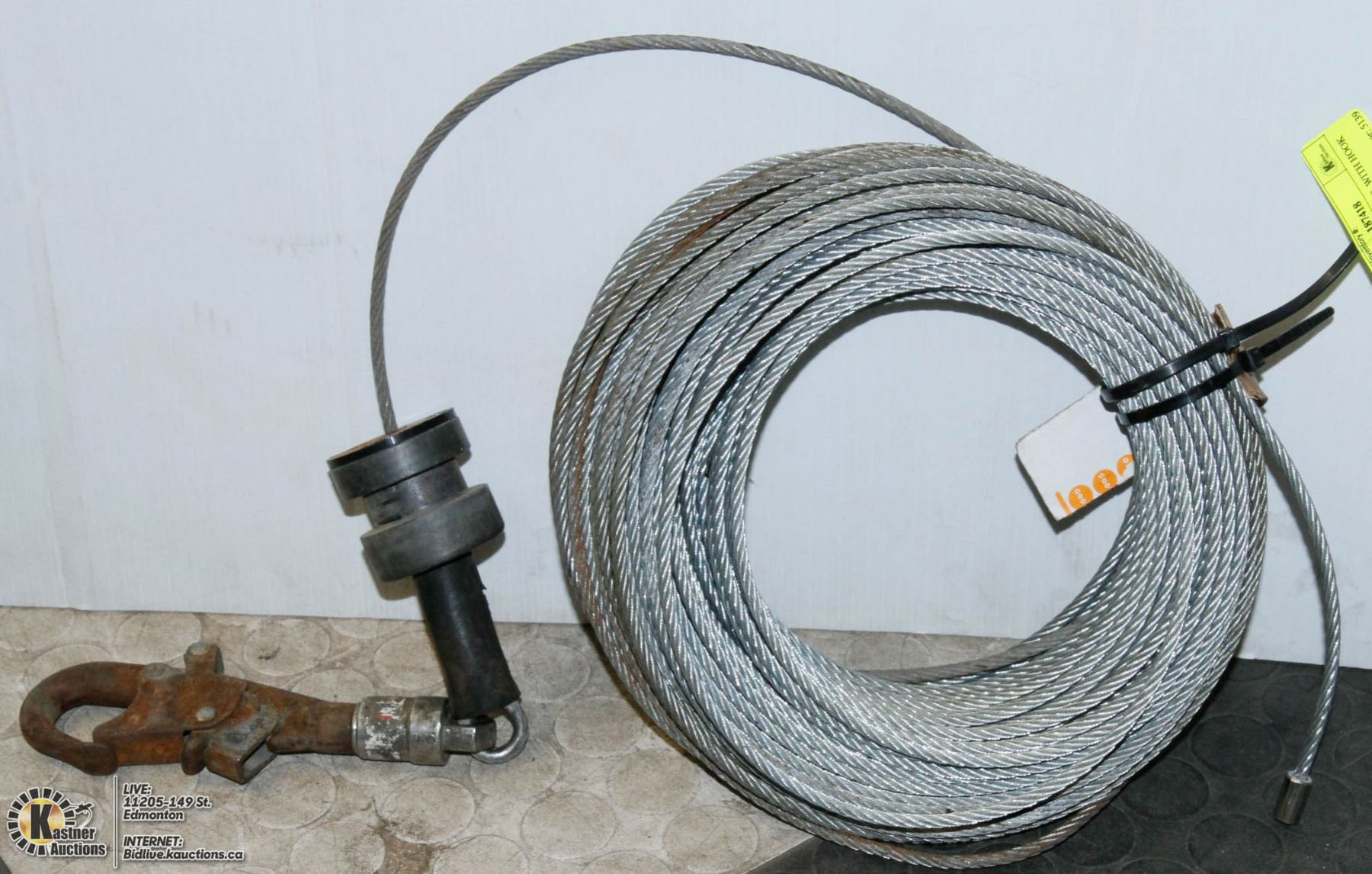 3 8 Steel Cable : Steel cable quot with hook