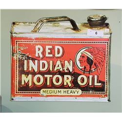 RED INDIAN MOTOR OIL SST SIGN