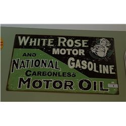 WHITE ROSE MOTOR OIL GASOLINE SST SIGN