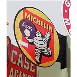 MICHELIN DOUBLE SIDED TIN FLANGE SIGN