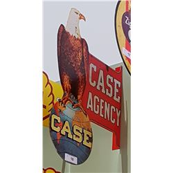 CASE AGENCY DOUBLE SIDED TIN FLANGE SIGN