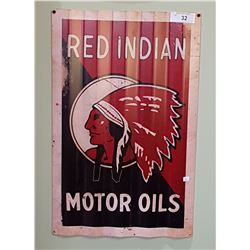 RED INDIAN MOTOR OILS SST SIGN
