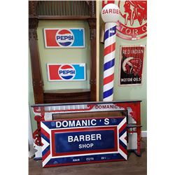 CUSTOM MADE THREE PC BARBER SHOP LOT