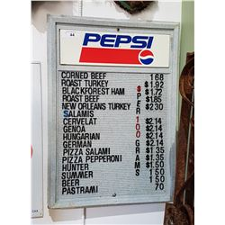 PEPSI MENU BOARD SIGN