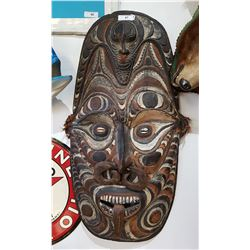 LARGE WOODEN TRIBAL MASK