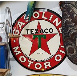 TEXACO GASOLINE MOTOR OIL SST SIGN
