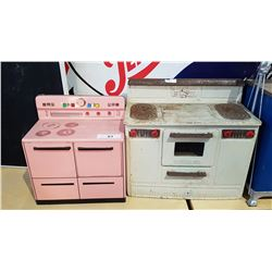 TWO VINTAGE CHILDREN'S TIN PLAY STOVES