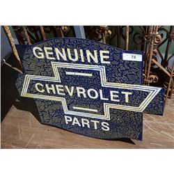 CUSTOM MADE CHEVROLET PARTS SIGN