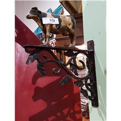 WROUGHT IRON COW FIGURAL DECORATIVE PIECE