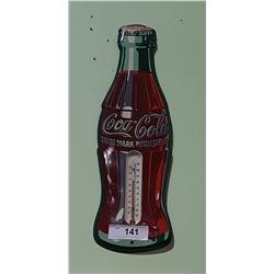 ORIGINAL COCA COLA BOTTLE WORKING THERMOMETER