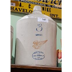 ANTIQUE 3 GALLON RED WING JUG