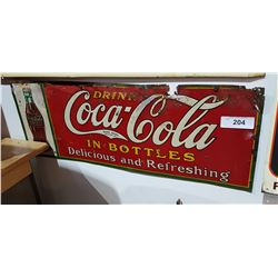 1931 COCA COLA TIN TACKER SIGN